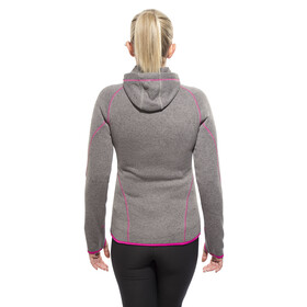 axant Anden Women Fleece Jacket stone grey/fuchsia red